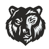 Vector black bear. Icon on white background Stock Images