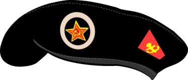 Vector black beret Royalty Free Stock Image
