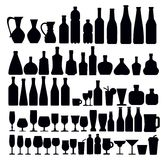 Beverage and glass icons Royalty Free Stock Photos