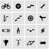 Vector black bicycle icon set. On grey background Stock Images