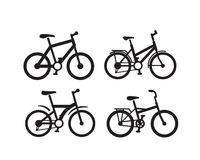 Vector black bicycle Royalty Free Stock Images