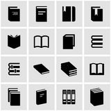 Vector black book icon set Royalty Free Stock Photography