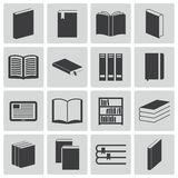 Vector black  book  icons Royalty Free Stock Image