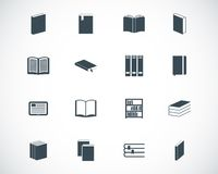 Vector black  book  icons Stock Image