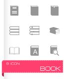 Vector black book icons set Stock Photo