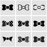 Vector black bow ties icon set Stock Photo