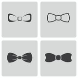 Vector black bow ties icons set Royalty Free Stock Images