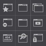 Vector black browser icons Stock Images