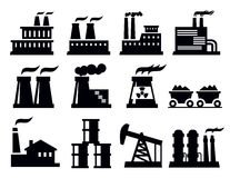 Building factory icon Royalty Free Stock Photos