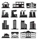Buildings and factories Royalty Free Stock Photo