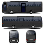 Vector Black Bus Stock Photo