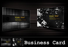 Vector black business card set Royalty Free Stock Images