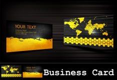 Vector black business card set Stock Photos