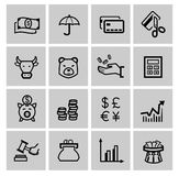 Vector black business icons Royalty Free Stock Photos