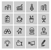 Vector black business icons. This is file of EPS10 format Stock Photos