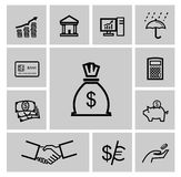 Vector black business icons Royalty Free Stock Photography