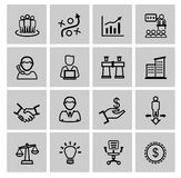 Vector black business icons Stock Photography