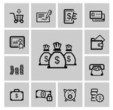 Vector black business icons Stock Photo