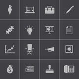 Vector black business icons set Stock Photo