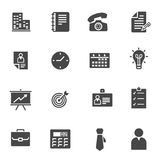 Vector black business icons set. On white background Royalty Free Stock Photography