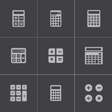 Vector black calculator icons set Stock Photo