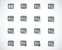 Vector black calendar; icons Stock Photography