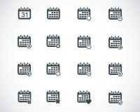 Vector black calendar; icons Stock Photography