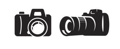 Vector black camera Stock Photo