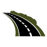 Vector black car road icon Royalty Free Stock Photography
