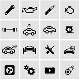 Vector black car service icon set Stock Images