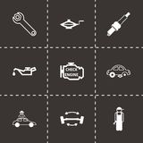 Vector black car service icons set Stock Photo