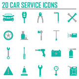 Vector black car service set Stock Photography