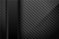 Vector black carbon fiber background with dark vertical plastic line element. Industrial design illustration Royalty Free Stock Images