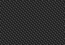 Vector black carbon fiber seamless background Royalty Free Stock Photos