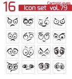 Vector black cartoon eyes vector illustration