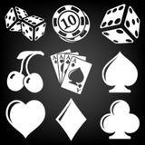 Vector black casino icons set Stock Photo