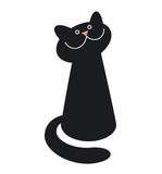 Vector black cat Royalty Free Stock Photo