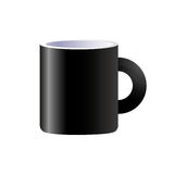 Vector black ceramic mug isolated Stock Photos