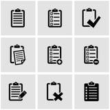 Vector black check list icon set Royalty Free Stock Image
