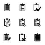 Vector black check list icon set Stock Photography
