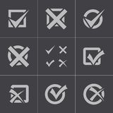 Vector black check marks icons set Stock Photography