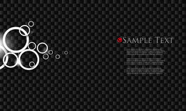 Vector black chrome business background Royalty Free Stock Image