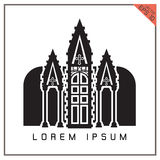 Vector black Church icon set on white background Royalty Free Stock Photo