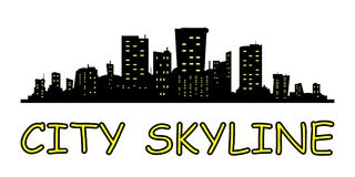 City skyline. Flat style. royalty free illustration