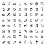 Vector black cleaning icons set Stock Photography