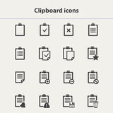Vector black Clipboard icons set Stock Photos