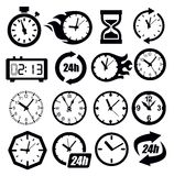 Clocks icon Stock Photos