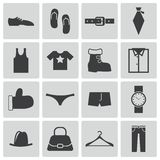 Vector black  clothes  icons Royalty Free Stock Images