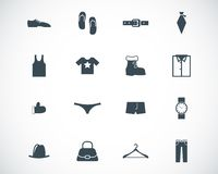 Vector black  clothes  icons Royalty Free Stock Photo