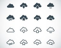 Vector black  clouds  icons Royalty Free Stock Photo